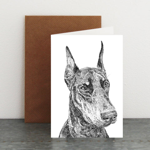 'Dennis The Doberman' Card