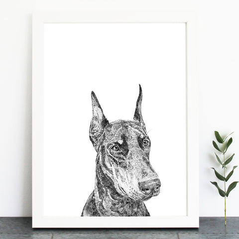 'Dennis The Doberman' Print