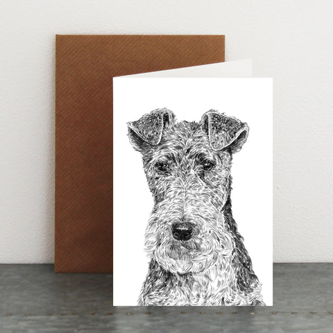 'Fergus The Fox Terrier' Card