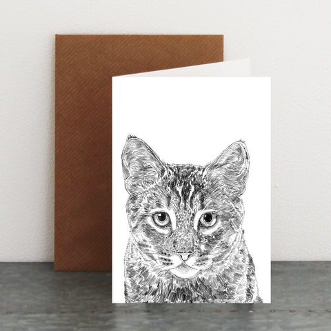 'Frankie The Cat' Card