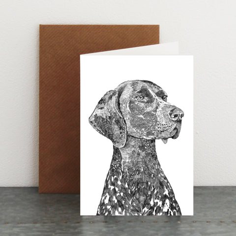 'Bert The German Pointer' Card