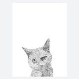 'Thelma The Grey Cat' Print