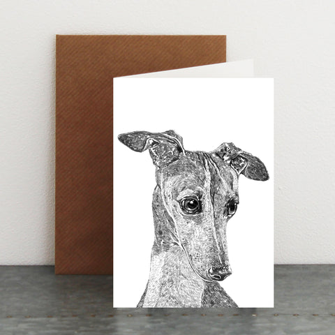 'Freida The Greyhound' Card