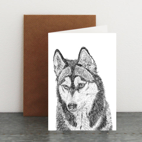 'Hampus The Huskie' Card