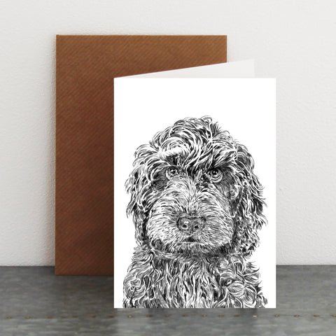 'Rusty the Labradoodle' Card