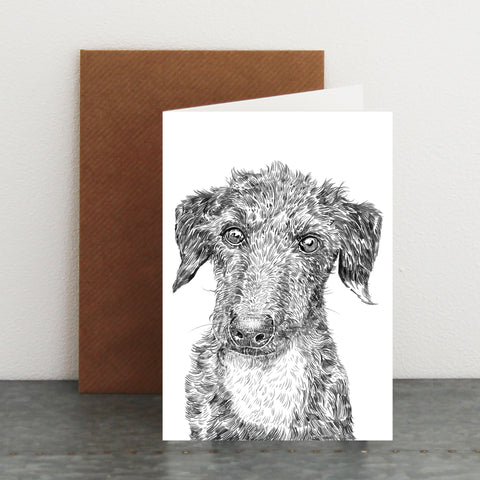 'Ernie The Lurcher' Card