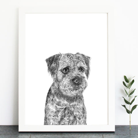 'Maud The Border Terrier' Print