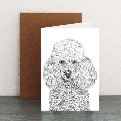 'Audrey The Poodle' Card