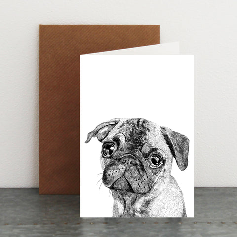 'Albert The Pug' Card