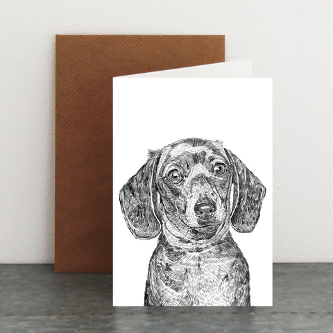 'Sausage The Daschund' Card