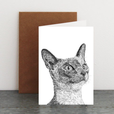 'Siamese Cat' Card