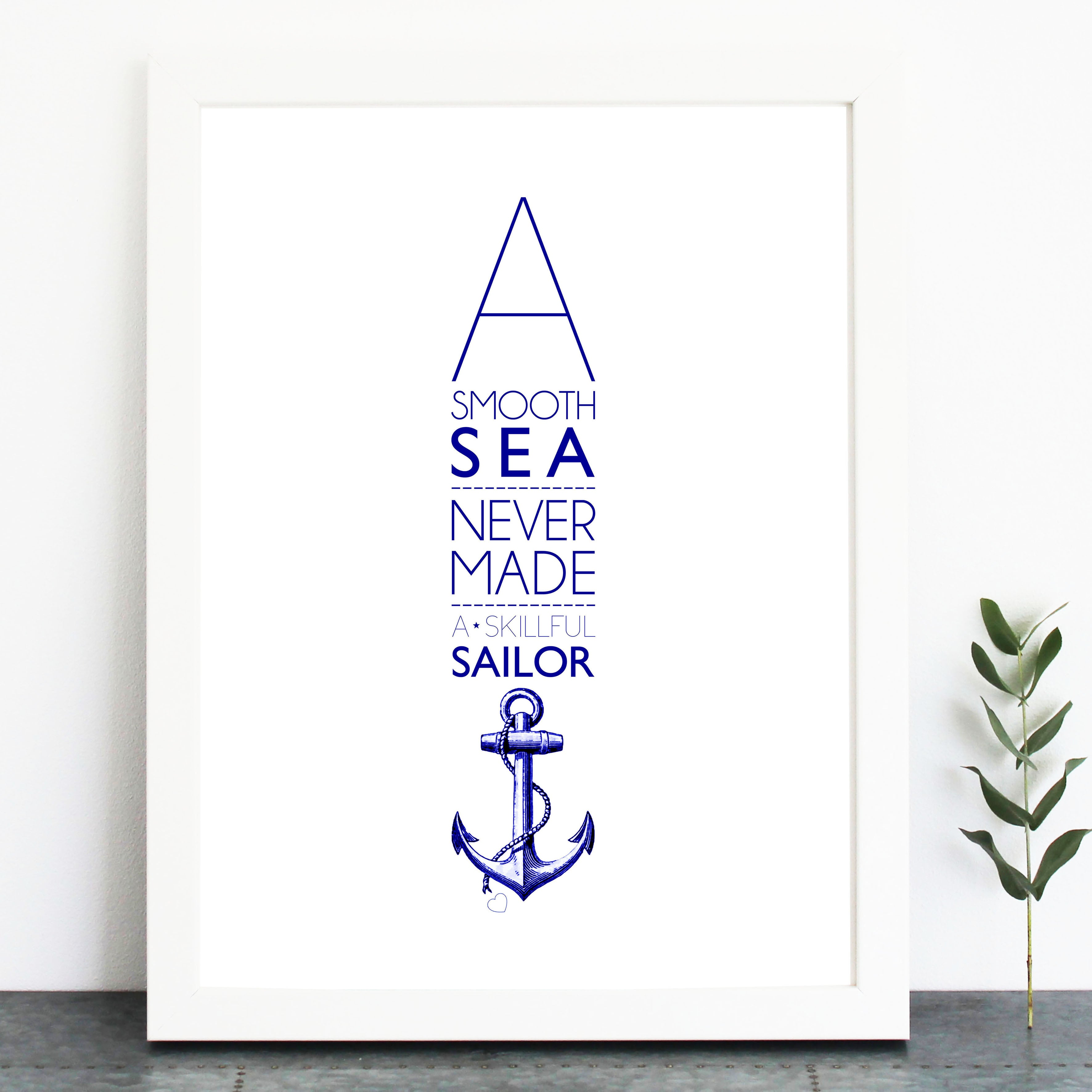 A Smooth Sea... Print