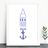 'A Smooth Sea...' Print