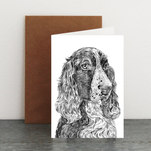 'Stanley The Springer Spaniel' Card
