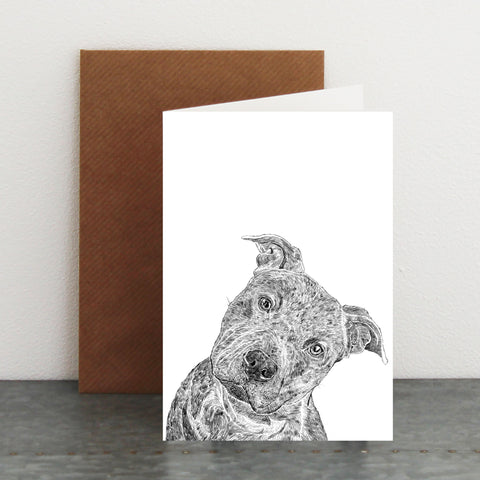 'Rex The Staffordshire Bull Terrier' Card