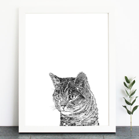 'Cooper The Tabby Cat' Print