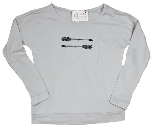 Warrior Boat Neck Sweatshirt