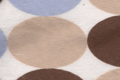 Minky Big Dot - Brown/Blue/Latte