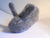 Oui Presse Bunny Slippers in Grey Heather