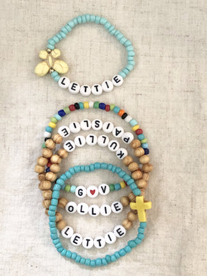Wood Stack of Blessings Bracelets