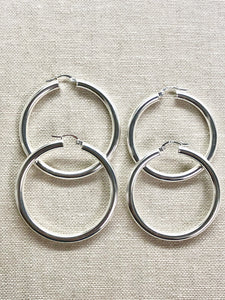 Sterling Silver Favorite Hoop Earrings