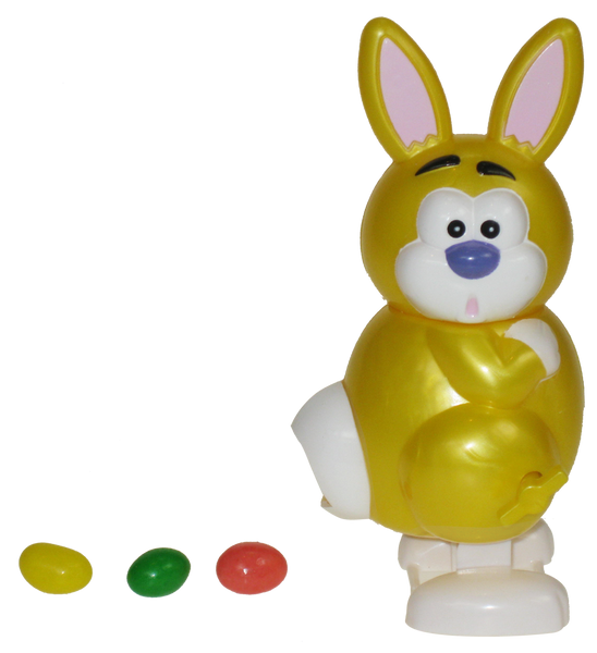 Funny Bunny® - <br />Windup Jelly Bean <br />Dispenser - Yellow