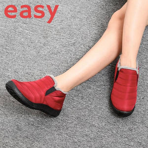 EASY Warm Winter Waterproof Snow Ankle Boot