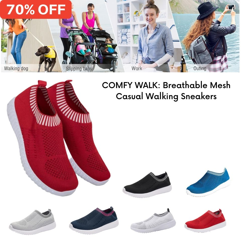 70% OFF NOW: COMFY WALK -  Breathable Mesh Casual Walking Sneakers