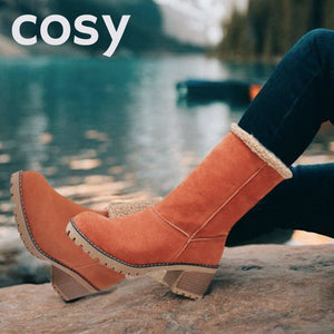 COSY Warm Winter Snow Suede Chunky Boot