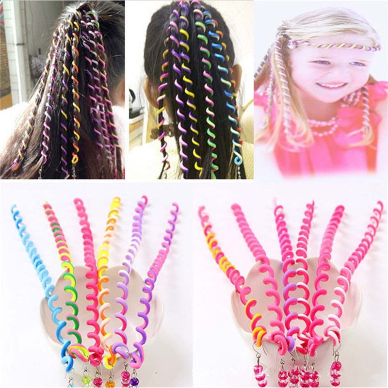 6pcs/lot Rainbow Hair Roller - The Princess Accessories