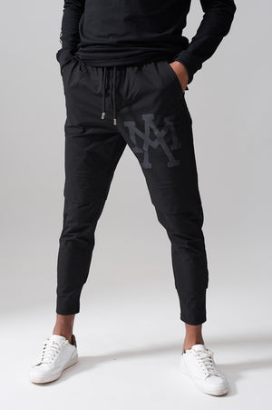 BLACK AM SHELL TRACK PANTS