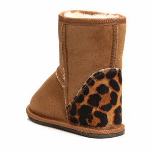 Short Tan Leopard Boots