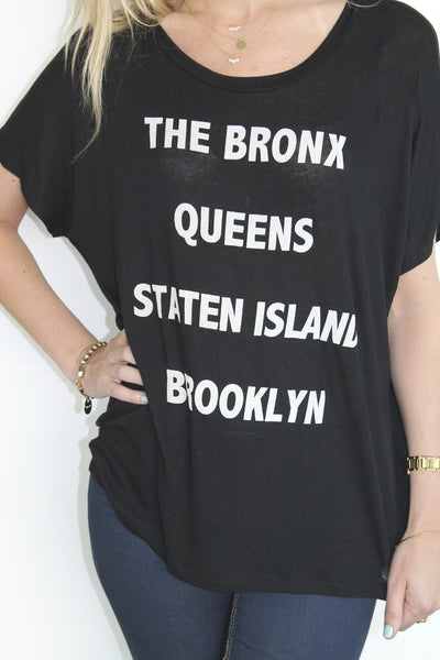 4 Boroughs of NYC Tee