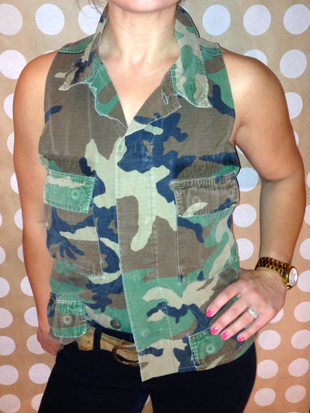 Camile Army Vest