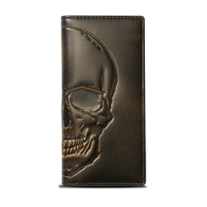 Skull Long Bifold Wallet
