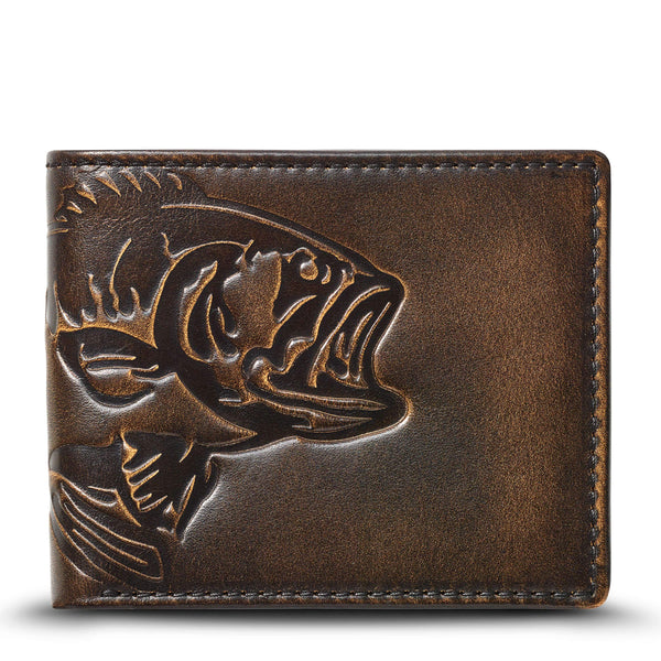Bass Fish Double ID Bifold Wallet
