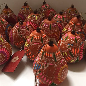 Christmas Gourd Ornament Adviento