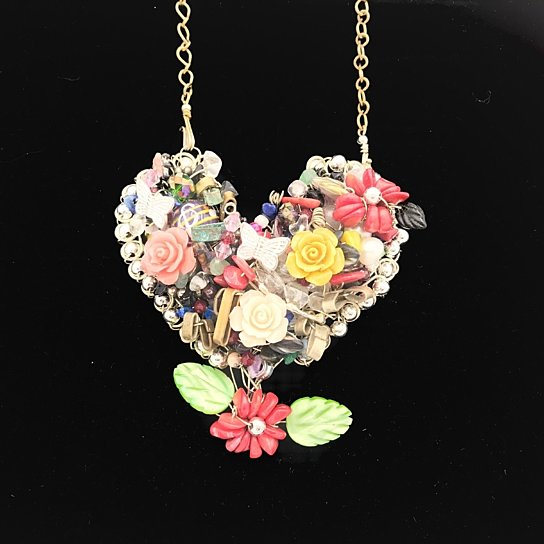 Miracle Heart Statement Necklace