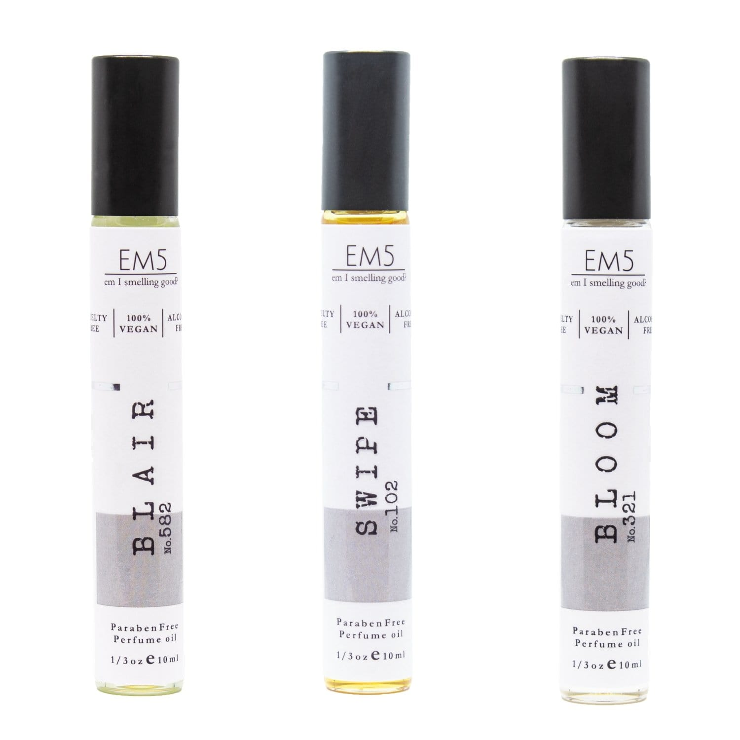 Em5 Premium Roll-ons Combo Set for Women, Inspired from Lavender by Tommme Forrddd | Twillyy De Herimess | Absolutely Bloomngg by Deiorrrr - Pack of 3-1/3oz (10ml) each…