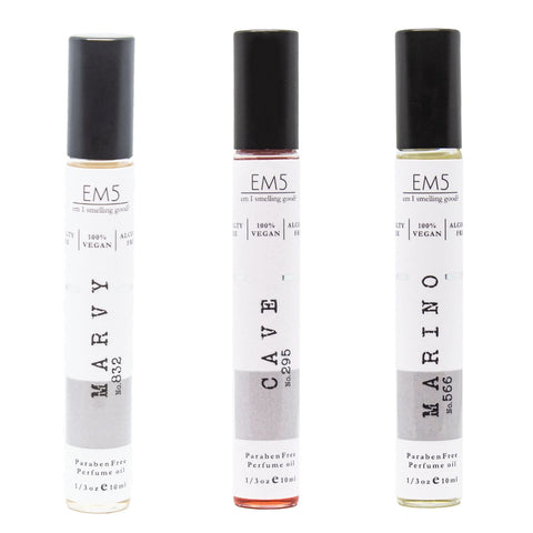 Em5 Luxury Roll-ons Combo Set for Men, Inspired from Jazzz Cllub Marrgiella | Eross Flmme Verrsaccee | At D Barbersss Margiielaa - Pack of 3-1/3oz (10ml) each…