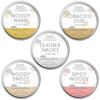 Em5's HydroBoost Perfumed Moisturizing Crème Set of 5, 30Gms Each | Woody Tobacco Leather | Silicon and Paraben Free | Ultra Absorbing | For all Skin Types | Get 5 Free Samples
