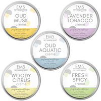 Em5's HydroBoost Perfumed Moisturizing Crème Set of 5, 30Gms Each | Oud Fresh Spicy | Silicon and Paraben Free | Ultra Absorbing | For all Skin Types | Get 5 Free Samples