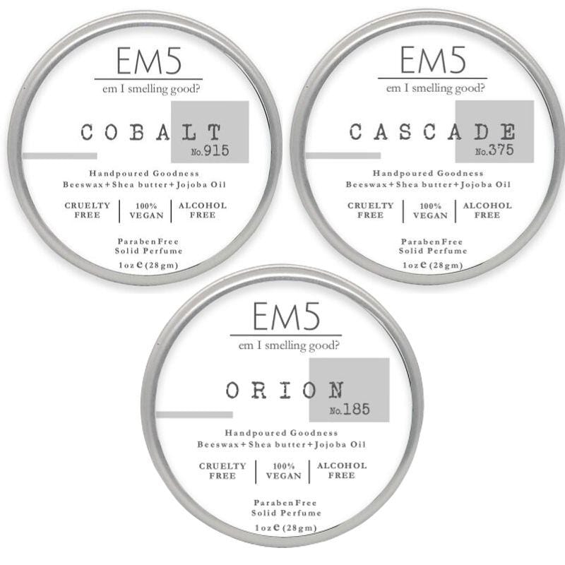 Em5 Luxury Solid Perfume Combo Set, Inspired from Mammboo | Marritiime  | Onee Milliion Luckky- Pack of 3 Solid perfume - 1oz (28 gm) each