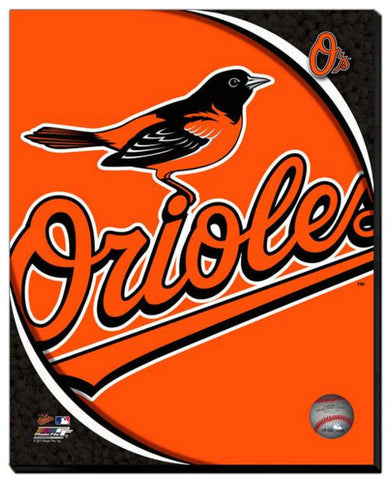 Baltimore Orioles Team Logo Stretched Canvas