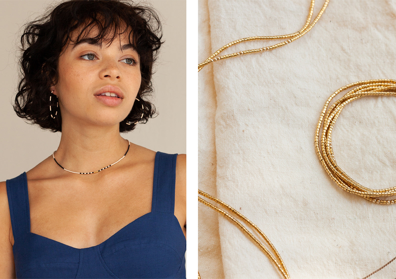 Dunes Collection - Accona Necklace and Gobi Wrap