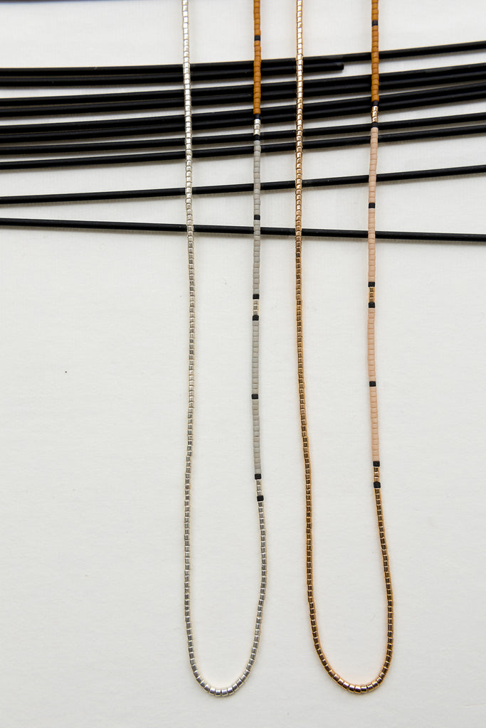 Ballenas Necklaces, Alluvial Collection - Abacus Row Handmade Jewelry