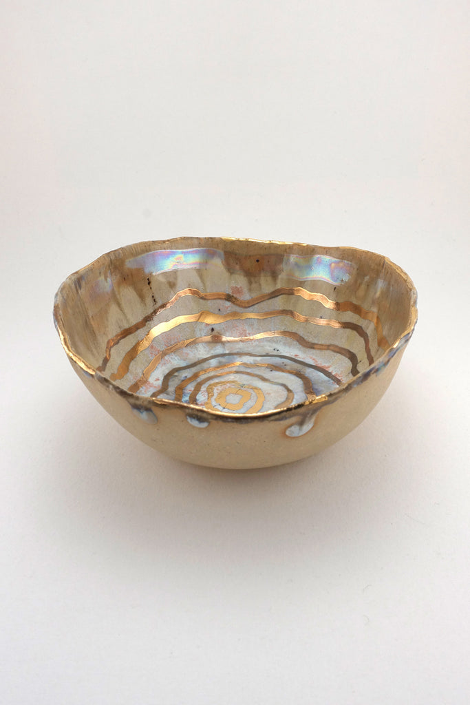 Minh SInger Iceland Abalone Small Bowl Gold Luster