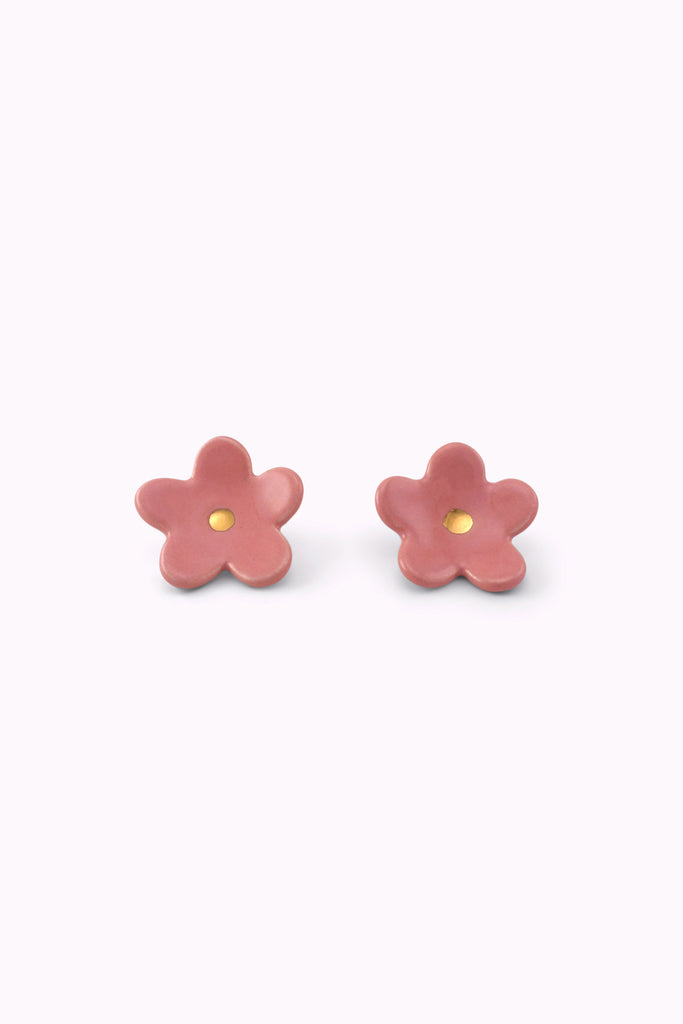 Pink Flower Earrings by TPOH The Persuits Of Happiness