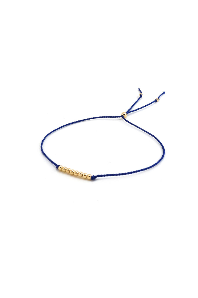 Friendship Bracelet No. 3, sapphire - Abacus Row Handmade Jewelry