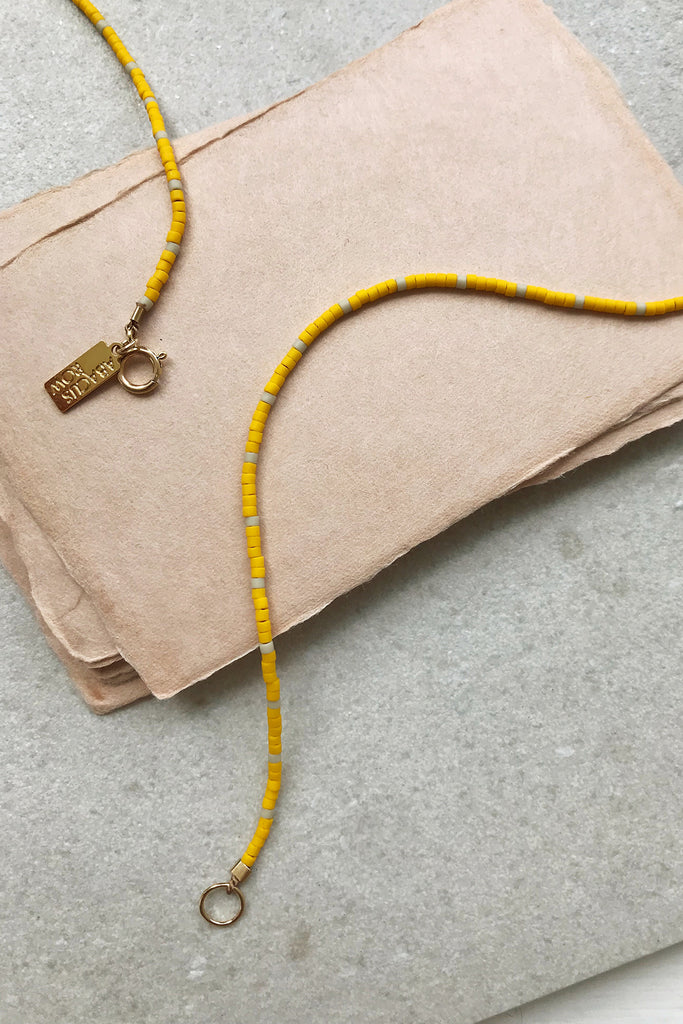 Capay Bracelet, Wool/Yellow - Archive